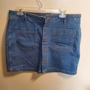a.n.a. jean skirt